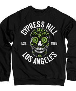 Sweat Cypress Hill - Sugar Skull de couleur Noir
