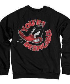 Sweat Daffy Duck - You're Despicable de couleur Noir