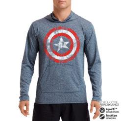 Sweat de sport Captain America Shield Performance anti-transpirant de couleur