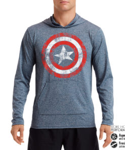 Sweat de sport Captain America Shield Performance anti-transpirant de couleur