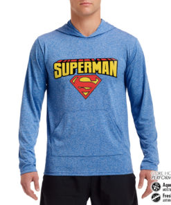Sweat de sport Superman Blockletter Logo Performance anti-transpirant de couleur