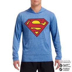 Sweat de sport Superman Shield Performance anti-transpirant de couleur
