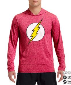 Sweat de sport The Flash Emblem Performance anti-transpirant de couleur Rouge Pale