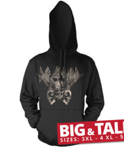 Sweat Def Leppard - Flying Skulls spécial grande taille de couleur Noir