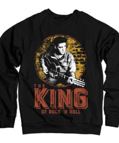 Sweat Elvis Presley - The King Of Rock 'n Roll de couleur Noir