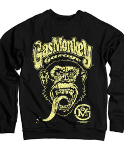 Sweat Gas Monkey Garage Big Brand Logo de couleur Noir