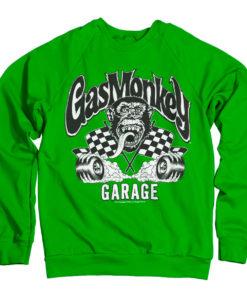 Sweat Gas Monkey Garage Burning Wheels de couleur Vert