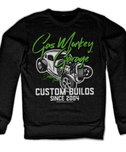 Sweat Gas Monkey Garage Custom Neon de couleur Noir