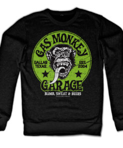 Sweat Gas Monkey Garage - Green Logo de couleur Noir