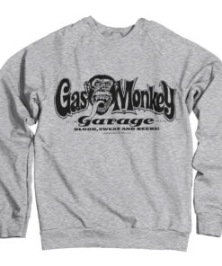 Sweat Gas Monkey Garage Logo de couleur Gris
