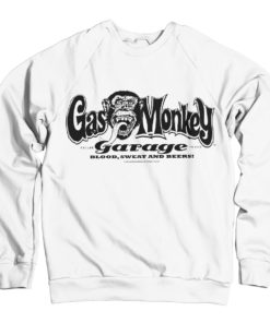 Sweat Gas Monkey Garage Logo de couleur Blanc