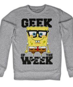 Sweat Geek Of The Week de couleur Gris Chiné