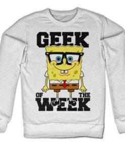 Sweat Geek Of The Week de couleur Blanc