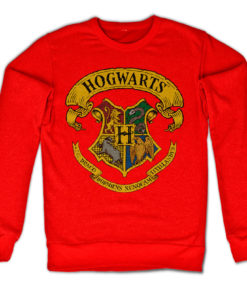 Sweat Harry Potter - Hogwarts Crest de couleur Rouge