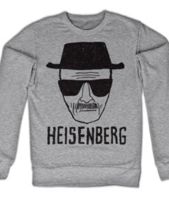 Sweat Heisenberg Sketch de couleur Gris Chiné