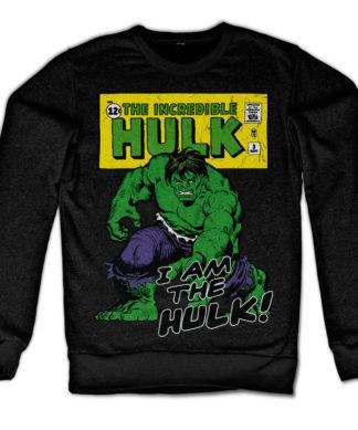 Sweat I Am The Hulk de couleur Noir