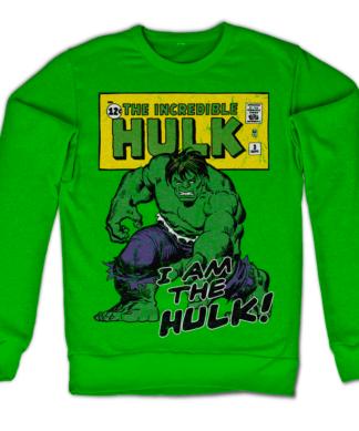 Sweat I Am The Hulk de couleur Vert
