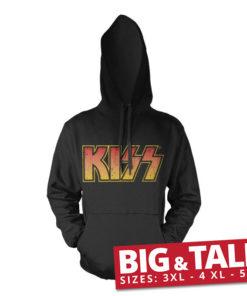 Sweat KISS Logotype spécial grande taille de couleur Noir