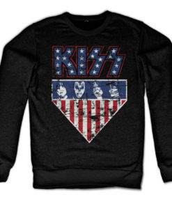 Sweat KISS Stars & Stripes de couleur Noir