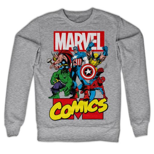 Sweat Marvel Comics Heroes de couleur Gris