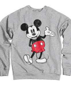 Sweat Mickey Mouse de couleur Gris