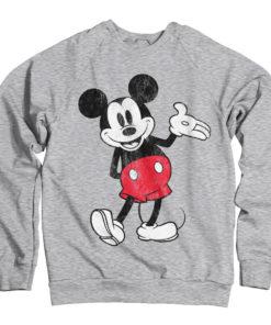 Sweat Mickey Mouse de couleur Gris