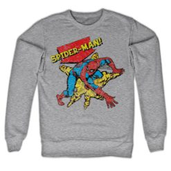 Sweat Retro Spider-Man de couleur Gris