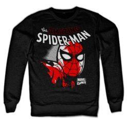 Sweat Spider-Man Close Up de couleur Noir