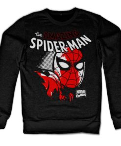 Sweat Spider-Man Close Up de couleur Noir