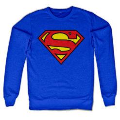 Sweat Superman Shield de couleur Bleu