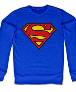 Sweat Superman Shield de couleur Bleu