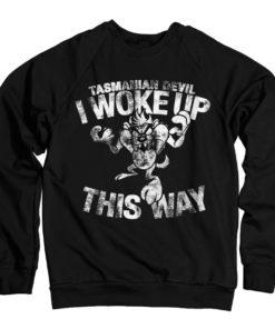 Sweat Tasmanian Devil - I Woke Up This Way de couleur Noir