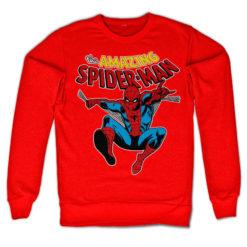 Sweat Retro Spider-Man de couleur Rouge