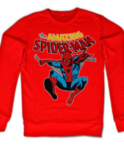Sweat Retro Spider-Man de couleur Rouge