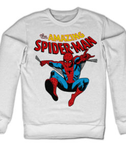 Sweat The Amazing Spiderman de couleur Blanc