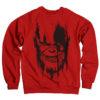 Sweat The Avengers - Infinity War THANOS de couleur Rouge