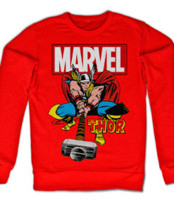 Sweat The Mighty Thor de couleur Rouge
