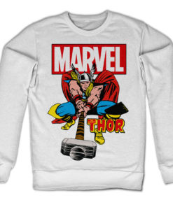 Sweat The Mighty Thor de couleur Blanc