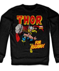 Sweat Thor - For Asgard! de couleur Noir