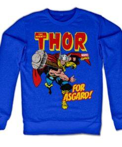 Sweat Thor - For Asgard! de couleur Bleu