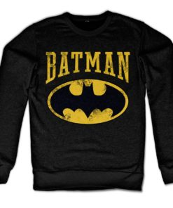 Sweat Vintage Batman de couleur Noir