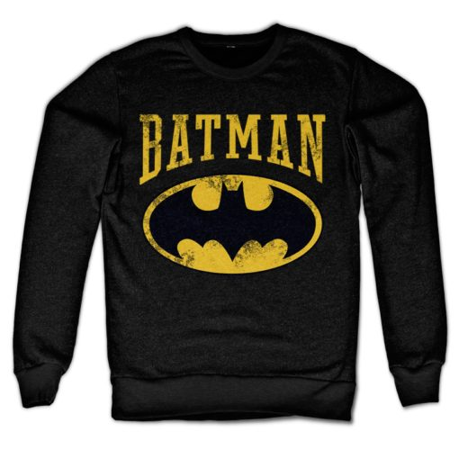 Sweat Vintage Batman de couleur Noir