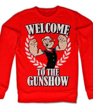 Sweat Welcome To The Gunshow de couleur Rouge