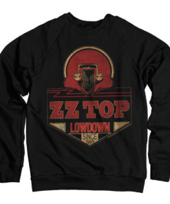 Sweat ZZ-Top - Lowdown Since 1969 de couleur Noir