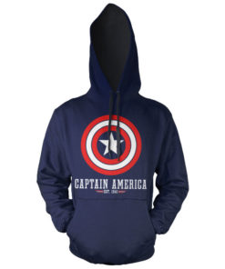 Sweat à capuche Captain America Logo de couleur