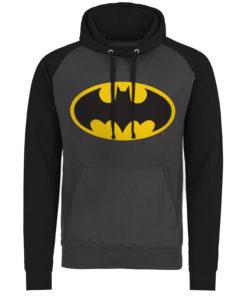 Sweatshirt à capuche Batman Signal Logo de couleur Gris Foncé/Noir