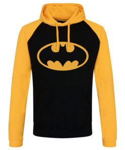 Sweatshirt à capuche Batman Signal Logo de couleur Noir/Jaune