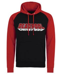 Sweatshirt à capuche Deadpool Logo de couleur Noir/Rouge