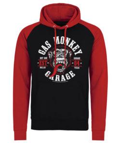 Sweatshirt à capuche Gas Monkey Garage Round Seal de couleur Noir/Rouge