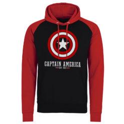 Sweatshirt à capuche Marvel Comics - Captain America Logo de couleur Noir/Rouge